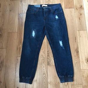 Cotton On Sporty denim jeans pants distressed